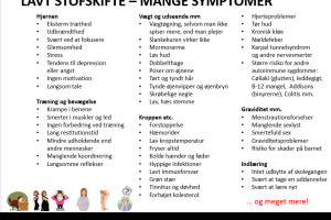 stofskifte lavt symptomer